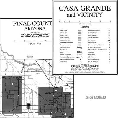 Pinal County Communities Wall Map