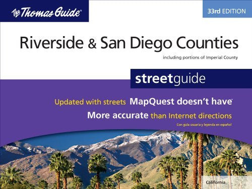 us topo - Riverside/San Diego Countied 33rd Edition (Thomas Guide Riverside/San Diego Counties Street Guide & Directory) - Wide World Maps & MORE! - Book - Wide World Maps & MORE! - Wide World Maps & MORE!