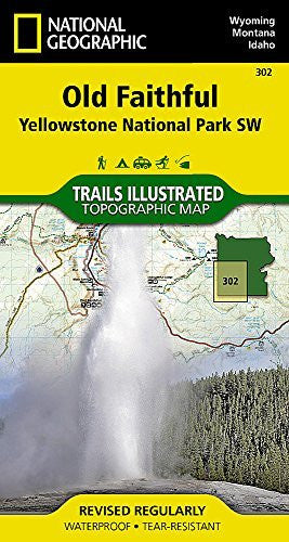 Yellowstone SW/ Old Faithful Top[o Map