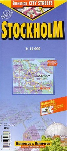Laminated Stockholm Map by Berndtson/Borch (English Edition)