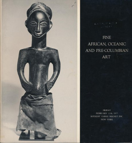 Fine African, Oceanic and Pre-columbian Art Sotheby Parke Bernet New York Auction # 3951, Feb. 11, 1977