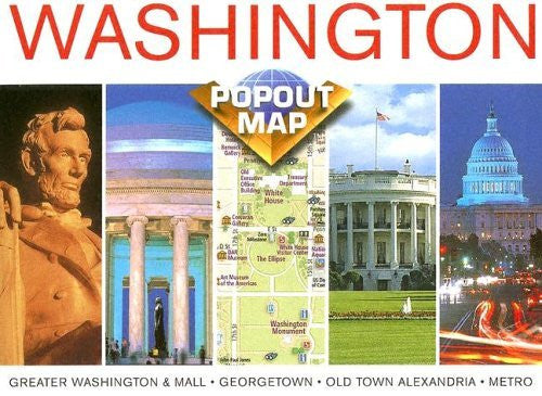 us topo - Washington, D. C. popout (USA PopOut Maps) - Wide World Maps & MORE! - Book - The Map Group - Wide World Maps & MORE!