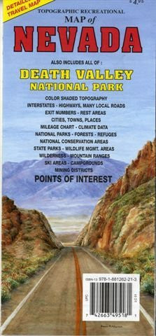 us topo - Nevada Topographic Recreational Map - Wide World Maps & MORE! - Map - GTR Mapping - Wide World Maps & MORE!