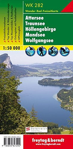 us topo - Attersee, Traunsee, Hollengebirge, Mondsee GPS: FBW.WK282 - Wide World Maps & MORE! - Book - Wide World Maps & MORE! - Wide World Maps & MORE!