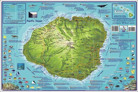 us topo - Franko's Dive Map of Kauai, the Garden Isle - Wide World Maps & MORE! - Book - Franko Maps - Wide World Maps & MORE!