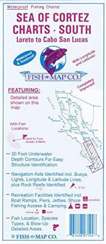 us topo - Sea Of Cortez South - Wide World Maps & MORE! - Sports - Fish-N-Map - Wide World Maps & MORE!
