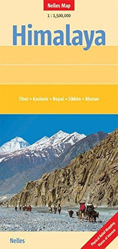 Himalayas Nelles Map (English, French, Italian and German Edition)
