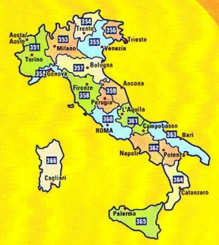 MIchelin Local Road Map 364 : Calabria (Italy) scale 1/200,000