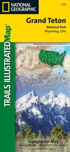 National Geographic Trails Illustrated Grand Teton National Park, Wyoming, USA: Topo Map (Trails Illustrated - Topo Maps USA)