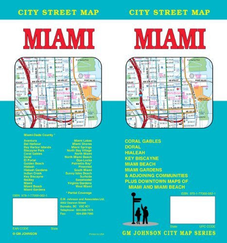Miami, FL City Street Map