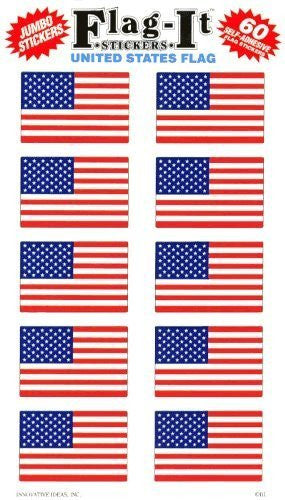 United States Flag Self-Adhesive Flag Stickers