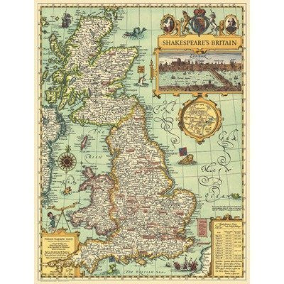 National Geographic RE00620097 Map Of Shakespeares Britain by National Geographic