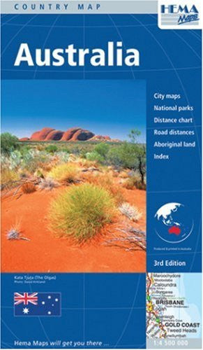Australia Large Road Map 1:4,500,000 Hema 2011 (Australia Maps) - Wide World Maps & MORE!