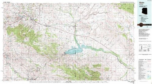 Globe Arizona 1:100,000-scale USGS Topographic Map: 30 X 60 Minute Series (1986)