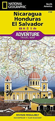 us topo - Nicaragua, Honduras, and El Salvador (National Geographic Adventure Map) - Wide World Maps & MORE! - Book - National Geographic Society (U. S.) - Wide World Maps & MORE!