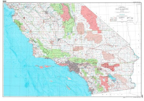 State of California Base Map with Highways (South Half) (TCA0329) - Wide World Maps & MORE!