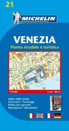 Michelin Map Venice/Mestre (Venezia) #21 (Maps/City (Michelin)) (Italian Edition) by Michelin (2012-07-16)
