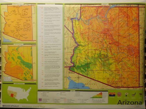 us topo - Arizona State Map (Markable Surface Maps) - Wide World Maps & MORE! - Book - Wide World Maps & MORE! - Wide World Maps & MORE!