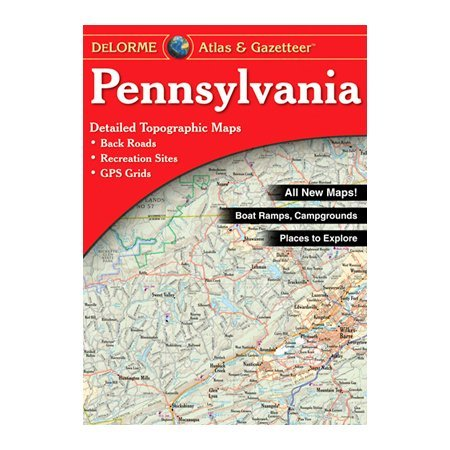 DeLorme 240038 Pennsylvania Atlas and Gazetteer [Used, Good Condition]