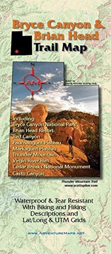 us topo - Bryce Canyon and Brian Head Trail Map - Wide World Maps & MORE! - Sports - Adventure Maps - Wide World Maps & MORE!