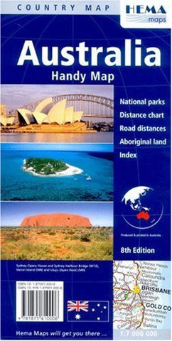 us topo - Australia Handy Map, Folded (Hema Maps International) - Wide World Maps & MORE! - Book - Wide World Maps & MORE! - Wide World Maps & MORE!