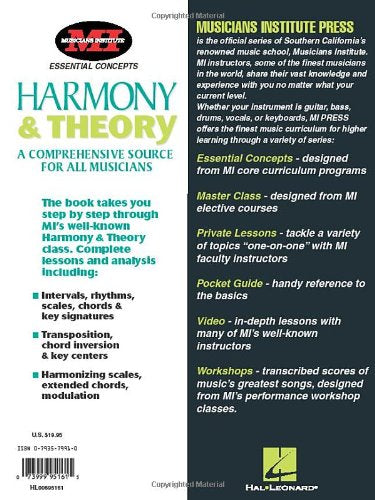 Harmony and Theory: Essential Concepts Series (Essential Concepts (Musicians Institute).) - Wide World Maps & MORE! - Book - Hal Leonard - Wide World Maps & MORE!