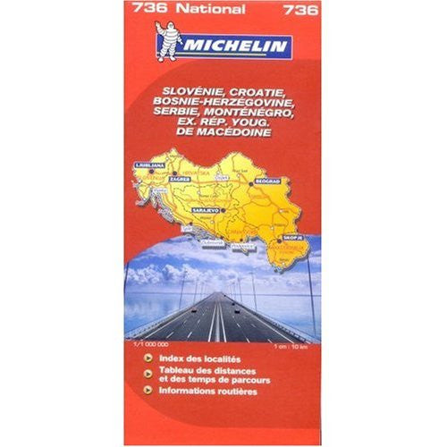 Michelin Map No. 736 Slovenia Croatia