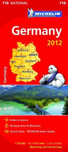 Germany 2012 National Map 718 (Michelin National Maps)