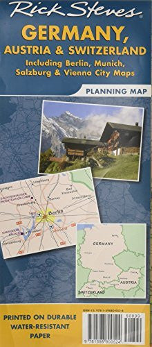 us topo - Rick Steves' Germany, Austria, and Switzerland Map: Including Berlin, Munich, Salzburg and Vienna City - Wide World Maps & MORE! - Book - Brand: Avalon Travel Publishing - Wide World Maps & MORE!