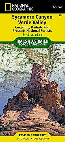 Sycamore Canyon, Verde Valley [Coconino, Kaibab, and Prescott National Forests] (National Geographic Trails Illustrated Map)