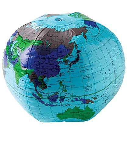 "us topo - US Toy One Inflatable Earth Globe Vinyl Beach Ball, 16"" - Wide World Maps & MORE! - Toy - US Toy - Wide World Maps & MORE!"