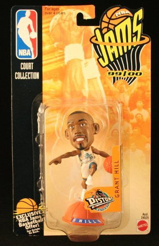 us topo - GRANT HILL / DETROIT PISTONS * 99/00 Season * NBA JAMS Super Detailed * 3 INCH * Figure - Wide World Maps & MORE! - Toy - Starting Line Up - Wide World Maps & MORE!
