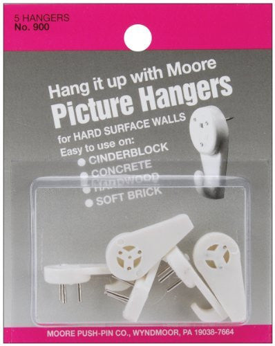 School Specialty Moore Hardwall Picture Hanger, Pack of 5
