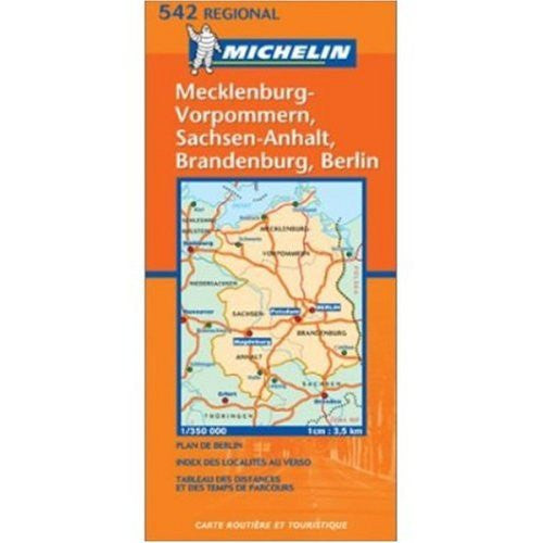 Michelin Map, No. 542: Northeastern Germany