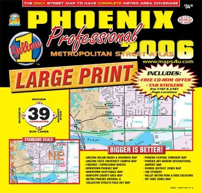 us topo - Phoenix Professional Metropolitan Street Atlas 2006 - Wide World Maps & MORE! - Book - Wide World Maps & MORE! - Wide World Maps & MORE!
