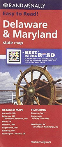 Rand McNally Delaware Maryland State Map