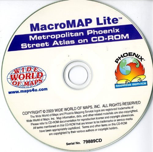 us topo - MacroMAP Lite Metropolitan Phoenix Street Atlas on CD-ROM - Wide World Maps & MORE! - Software - Yellow1 - Wide World Maps & MORE!
