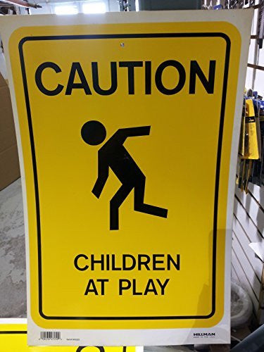 Caution Children At Play Sign #840020 - Wide World Maps & MORE! - Office Product - Hillman - Wide World Maps & MORE!