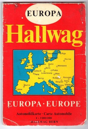 Hallwag Europe Europa (Motoring Map, 1 : 3 000 000)