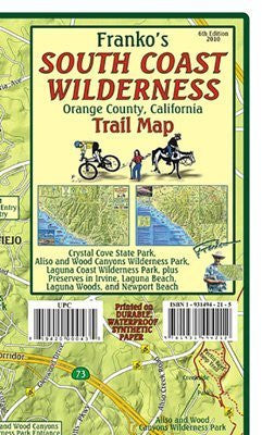 FRANKO MAPS MAP FML CA SOUTH COAST WILDERNESS - Wide World Maps & MORE! - Sports - Franko Maps - Wide World Maps & MORE!