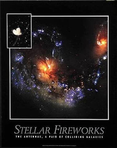 Stellar Fireworks: The Antennae, A Pair of Colliding Galaxies