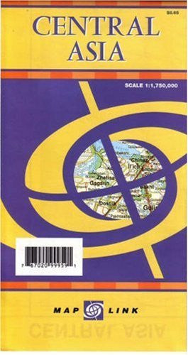 us topo - Central Asia (English, French, German and Russian Edition) - Wide World Maps & MORE! - Book - Map Link - Wide World Maps & MORE!