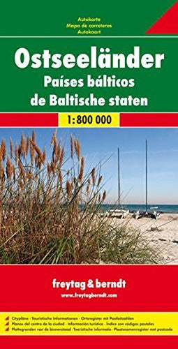 us topo - Baltic Sea States: FB.069 (Multi-country Mapping) (English, French and German Edition) - Wide World Maps & MORE! - Book - Freytag & Berndt - Wide World Maps & MORE!