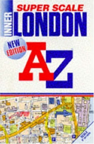 "us topo - A. to Z. Super Scale Atlas of Inner London: 1m-9"". (London Street Atlases) - Wide World Maps & MORE! - Map - Brand: Geographers' A-Z Map Co Ltd - Wide World Maps & MORE!"