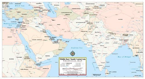 us topo - Middle East / South Central Asia Political Map - Wide World Maps & MORE! - Book - Wide World Maps & MORE! - Wide World Maps & MORE!