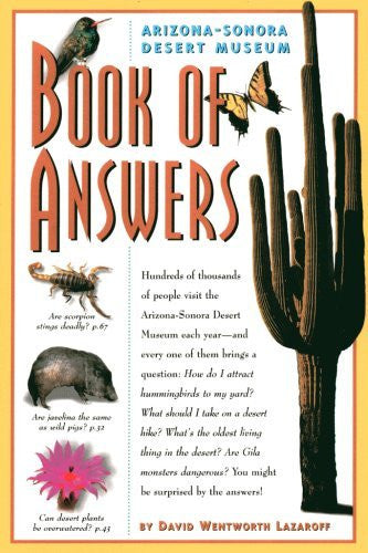us topo - Arizona-Sonora Desert Museum Book of Answers - Wide World Maps & MORE! - Book - Brand: Arizona-Sonora Desert Museum Press - Wide World Maps & MORE!