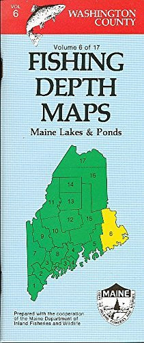 Fishing Depth Maps - Washington County Maine Lakes and Ponds