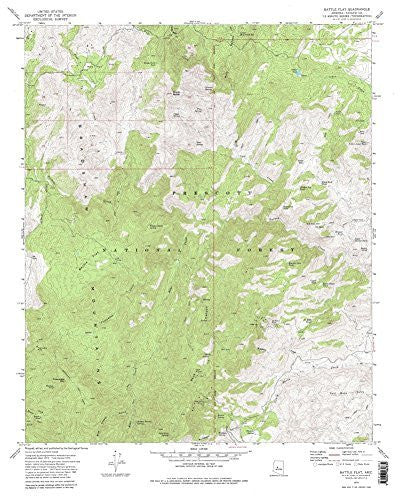 us topo - Battle Flat, AZ 7.5' - Wide World Maps & MORE! - Book - Wide World Maps & MORE! - Wide World Maps & MORE!
