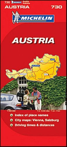 Michelin Map No. 730 Austria, Scale 1:400,000