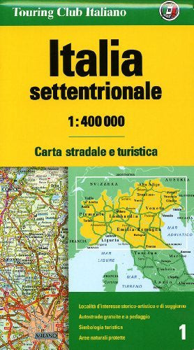 us topo - Italy, Northern 1 - Wide World Maps & MORE! - Book - Touring Club Italiano - Wide World Maps & MORE!